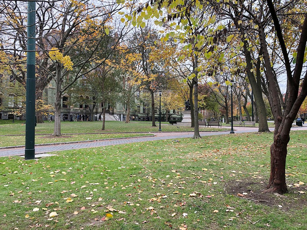 *写真は米国のフィラデルフィアにある大学構内の写真。